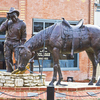 A sculpture depicting Will Rogers occupies a prominent spot in the middle of a main intersection in Oologah where the international celebrity was born.  The Dog Iron Ranch, his birthplace, is preserved in Oologah and is now a museum open to the public.