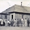 African-American schoolchildren pose in front of the school in 1925. Photo courtesy of the Oklahoma Historical Society.