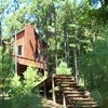 Escape to the Spokane Cabin, a grown-up tree house, at Beavers Bend Log Cabins in Broken Bow.