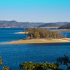 The view of Broken Bow Lake from each balcony at Lakeview Lodge in Beavers Bend State Park is enchanting.