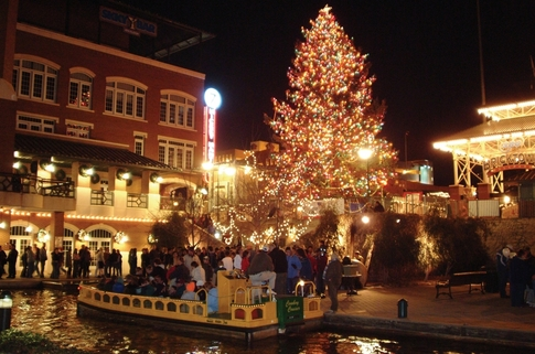 The Bricktown Canal is all decked out in stunning Christmas lights for the Downtown in December holiday celebration each year.  Take a ride on the water taxis and tour the well-decorated Bricktown Entertainment District in downtown Oklahoma City.