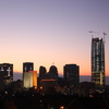 The downtown Oklahoma City skyline is a stunning sight as the sun rises on Christmas Eve morning.
