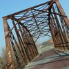 Vintage structures of the Mother Road are still visible along historic Route 66.  This bridge is located near Sapulpa.