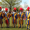 A group of Royal Guards pose for a photo at the Medieval Fair, which is held each spring in Norman.