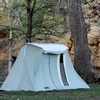 Tent campgrounds attract visitors to Black Mesa State Park in the northwest tip of the Oklahoma pandhandle.