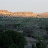 The ancient mesas of Black Mesa State Park in northwest Oklahoma as the sun sets.