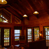 The resort cabins at Hugo Lake State Park offer magnificent views of the lake and luxurious accommodations.