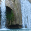 Water cascades 77 feet creating a beautiful scene at Turner Falls in Davis.