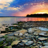 Lake Eufaula, Oklahoma's largest lake, has a knack for making a spectacle of itself with gorgeous sunsets.