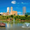 A peaceful spot to contemplate the Tulsa skyline or enjoy a walking, jogging or biking trail.