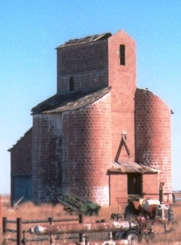 The Ingersoll Tile Grain Elevator is all that is left of the town of Ingersoll. The structure has been listed on the National Register of Historic Places since 1983.