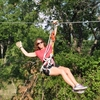 Experience the thrill of flying through the air at Air Donkey Zipline Adventure in Davis.