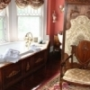 Enjoy a luxurious soak in a Jacuzzi tub with a view at the Historic Hayes House in Muskogee.