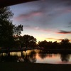 An October sunset over the pond at Ackley Park in Elk City.