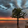 The shores of Lake Eufaula are an excellent place for a sunset hike.