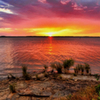 Summer sunsets bring Lake Eufaula alive with fantastic color.