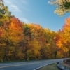 Lush wooded hills turn into a vibrant burst of color every fall along the Talimena National Scenic Byway in southeast Oklahoma.