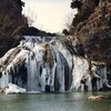 A winter weather creates a frozen beauty at Turner Falls in Davis.