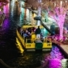 Bricktown comes alive each December with festive holiday lights. Free water taxi rides through the Bricktown canal are provided annually as part of the Downtown in December celebration.