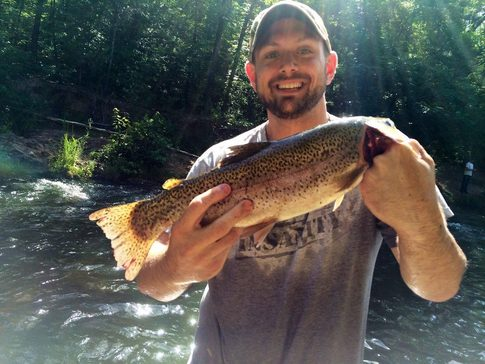 The Mountain Fork River is a popular trout-fishing hot spot in southeastern Oklahoma.