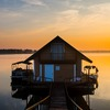 The amazing sunset views over Lake Murray are reason enough to book a few nights at Lake Murray Floating Cabins. They are also conveniently located next to everything Lake Murray State Park has to offer.
