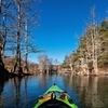 Adventurers enjoy kayaking along the Mountain Fork River in Beavers Bend State Park nearly year round.
