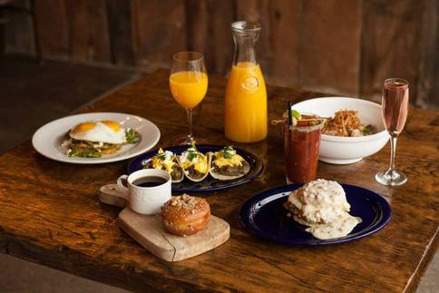 An overview of some of the brunch selections at Tallgrass Prairie Table in Tulsa.