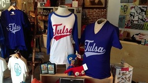Dwelling Spaces displays its Tulsa pride with plenty of Tulsa-themed gear.