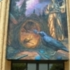 "In 2011, former art professor Steve Breerwood added this ""Universal Creativity"" mural to the walls of Davis Hall at USAO in Chickasha."