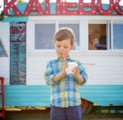 Treat the kids to shaved ice treats procured at Katiebug's Shaved Ice and Hot Chocolate food truck in Edmond.