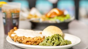 Try the famous chicken fried steak at Lucille's Roadhouse in Weatherford.