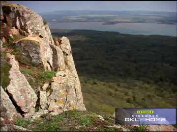Rock climbing is a popular pastime in the Wichita Mountains.