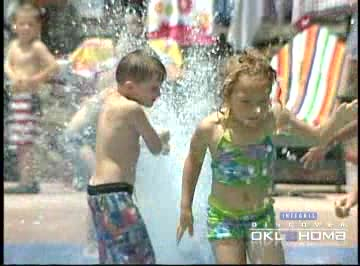 Beat the summer heat at Lake Wister State Park's spray park.