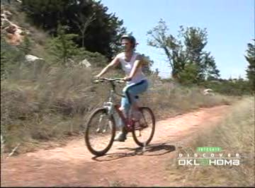 Mountain biking trails at Roman Nose State Park are challenging.