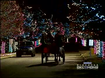 Get a glimpse of several of Oklahoma's best holiday light displays.