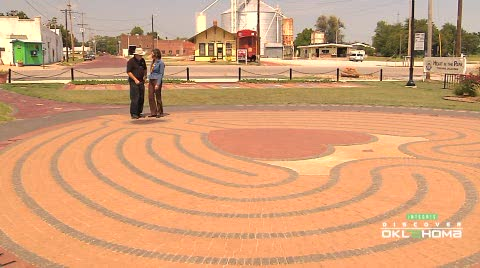 Walk the 'Heart in the Park' labrynth in downtown Tonkawa.