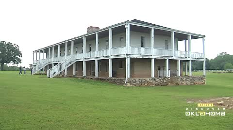 This frontier fort was built in 1842 to protect relocated tribes.