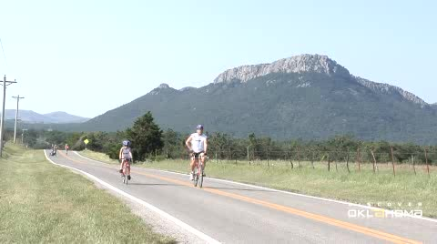 The annual Tour de Meers bicycle ride rolls through beautiful country.