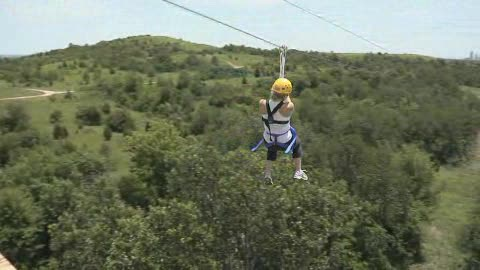 Soar through the treetops at POSTOAK Lodge in Tulsa