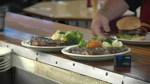 Perfectly hand cut steaks are on the menu at Big Dan's Steakhouse.