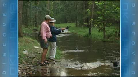 Fly fishing at Beavers Bend State Park is fun, but not always easy.