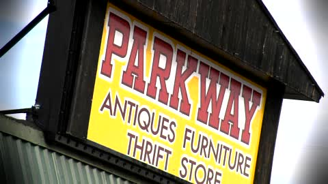 There's never a shortage of unique items for sale at Parkway Antiques.