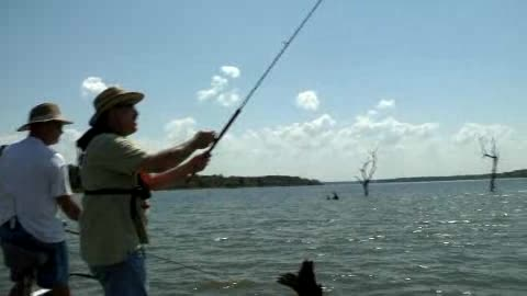 Lake Eufaula welcomes everyone to try out their fishing skills.