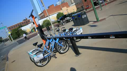 Get around central OKC with Spokies bike share program.