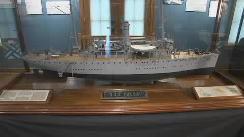 Tulsa ship exhibit at Historical Society museum