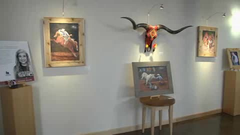 Art gallery inside Chickasaw Nation Welcome Center