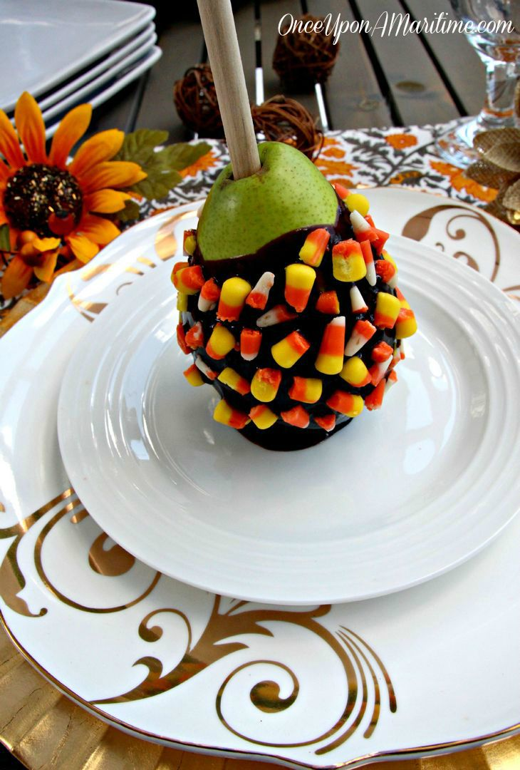 Candy Corn Chocolate Pear - Fall Treats Perfect for Halloween