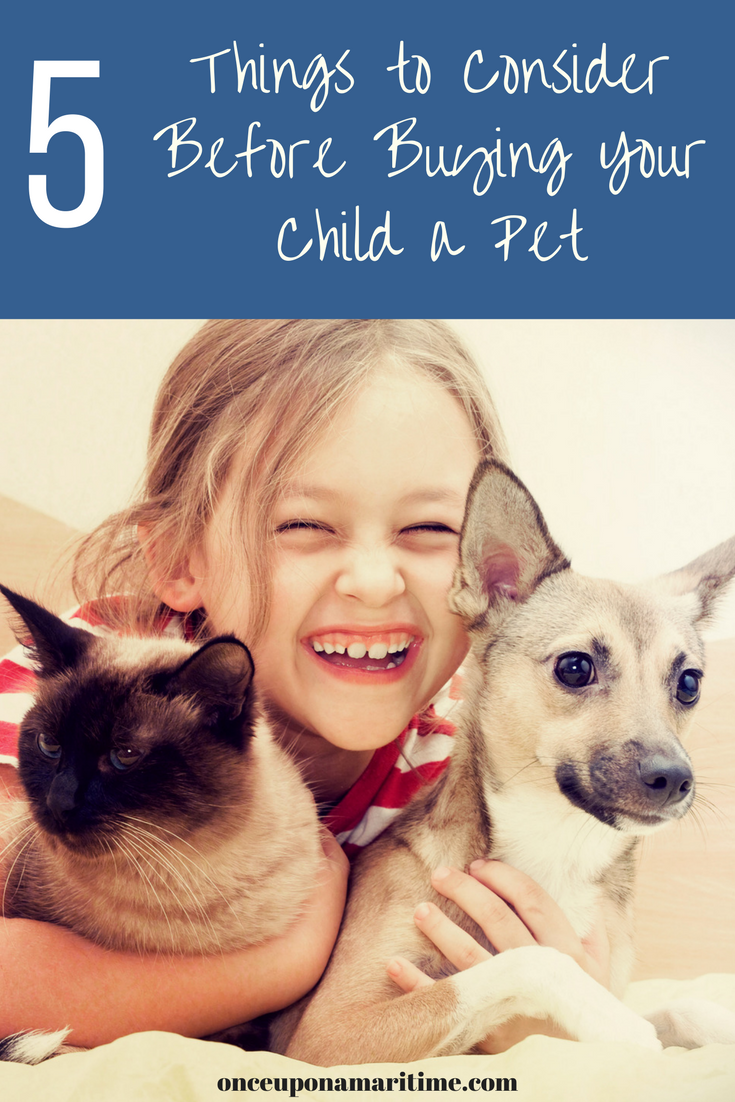 5 Things to Consider before Buying your Child a Pet