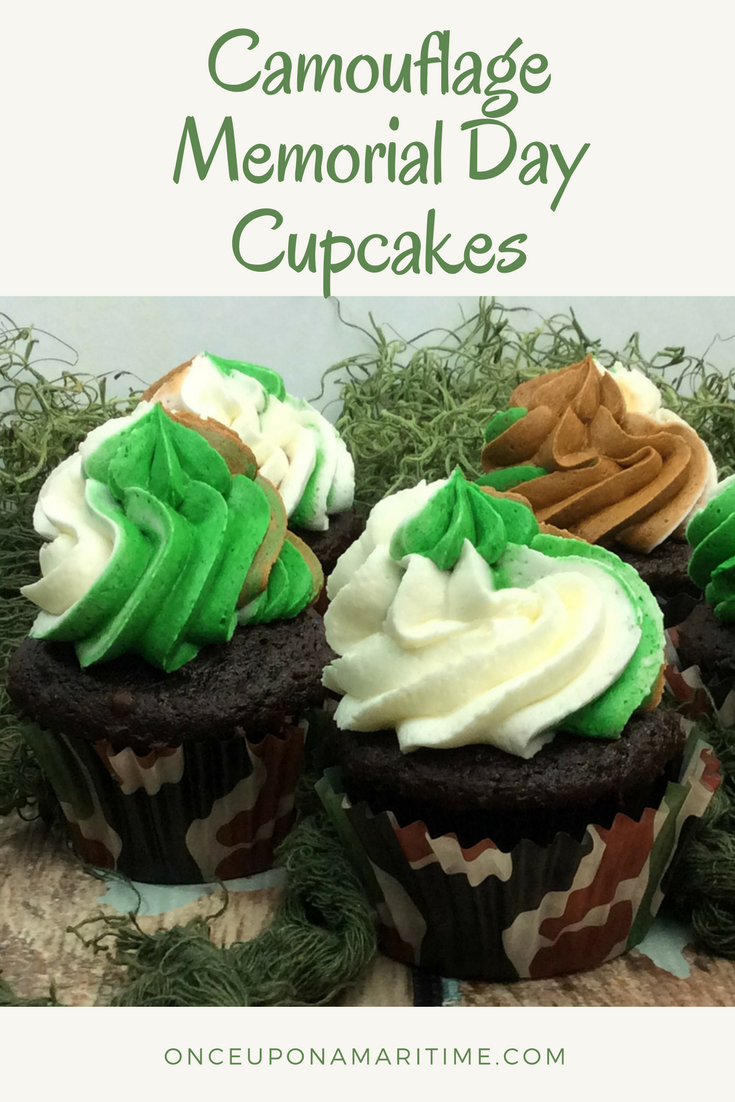 How to Honor the Troops on Memorial Day +Camouflage Cupcake Recipe