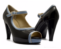 Asesoría de imagen ejecutiva - Peep Toe Olive Black - Lana Bang - Lana Bang